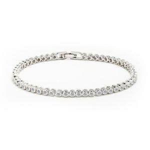 4 Carats round cut diamonds bracelet white